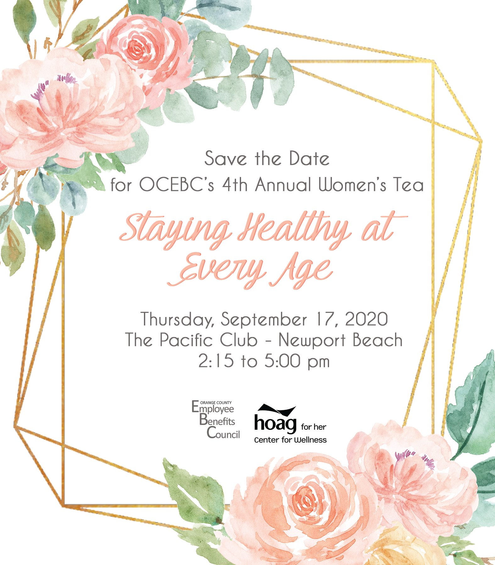 4th Annual Staying Healthy at Every Age Women's Tea @ The Pacific Club