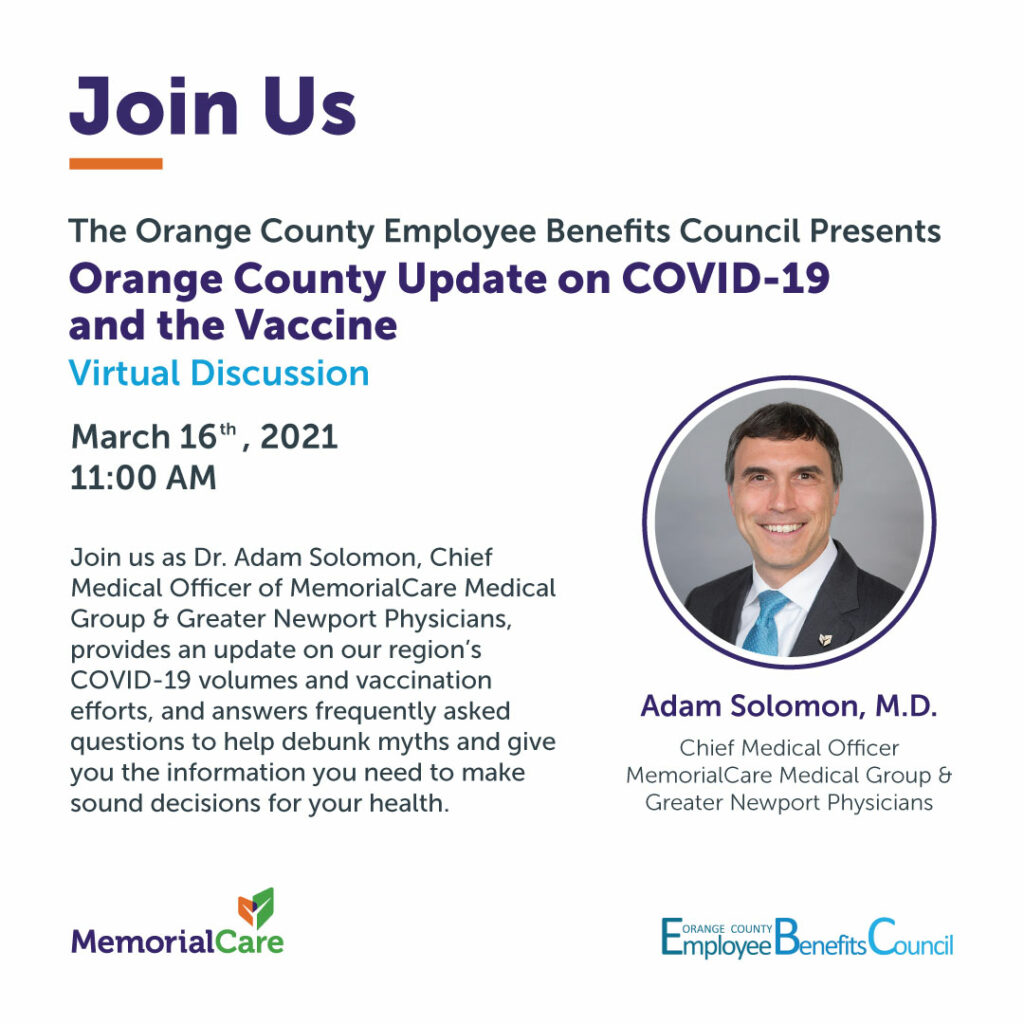 Orange County Update on COVID-19 and the Vaccine @ Webinar